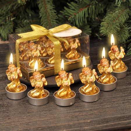 Свещ ангелчета злато