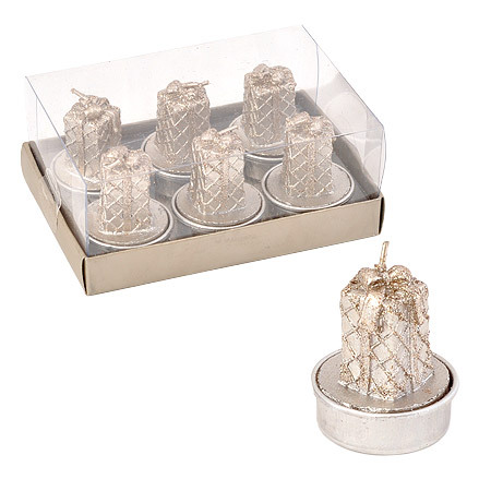 Свещ подаръчета сребро