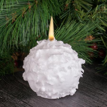 Свещ снежна топка голяма