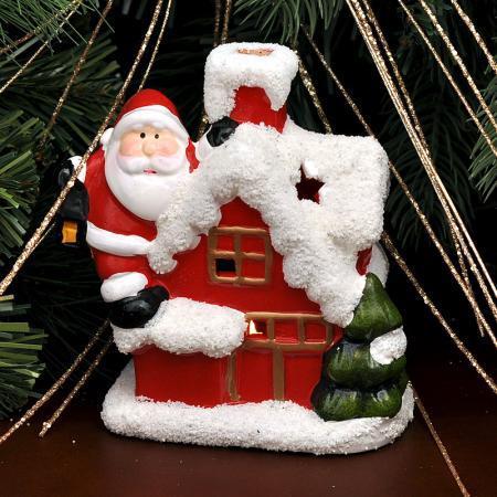 Коледна къща свещник