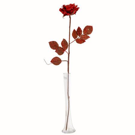 Червена роза стрък